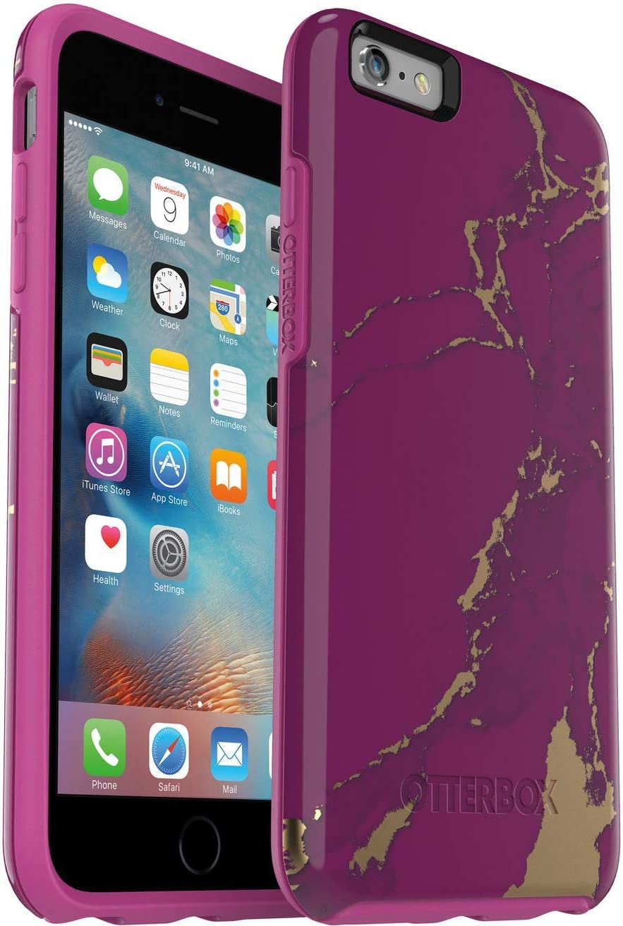OtterBox Symmetry Series Slim Protective Case for iPhone 6s Plus & iPhone 6 Plus - Non-Retail Packaging - Purple Marble