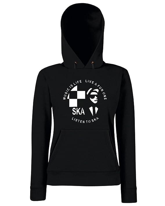 T-Shirtshock - Sudadera hoodie para las mujeras OLDENG00570 listen to ska, Talla L: Amazon.es: Ropa y accesorios