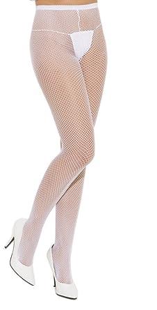12063b0f9ea Plus Size Classic Fishnet Tights in White  Amazon.co.uk  Clothing