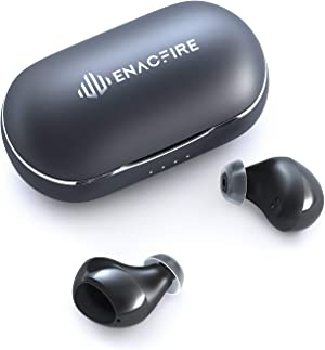 Bluetooth 5.0 Wireless Headphones, ENACFIRE Air Wireless Bluetooth Earbuds 7H Playtime IPX7 Waterproof CVC8.0 Apt-X Incredible Sound Quality, Built-in Microphone