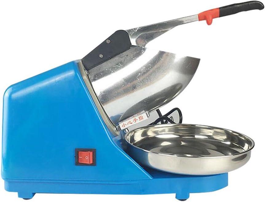 Bleu BROYEUR A GLACE /électrique Machine /à glace pil/ée Acier inoxydabl Commercial 300W Ice Maker Broyeur /à glace