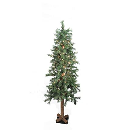 northlight 4 pre lit woodland alpine artificial christmas tree clear lights