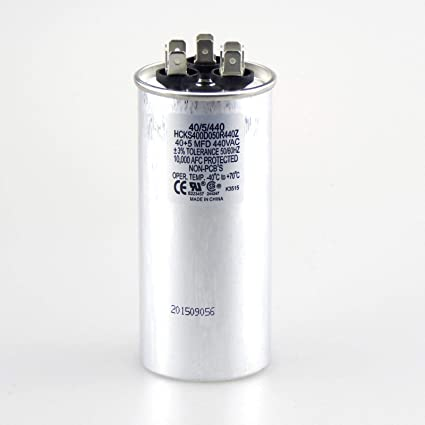Dual Run Round Capacitor Condenser Straight Cool Or Heat