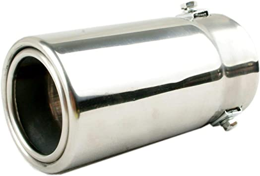 """2.25/""""//2.5/""""//3/""""//4/""""//5/"""" Inlet Stainless Steel Chrome Tailpipe Car Exhaust Tip"""