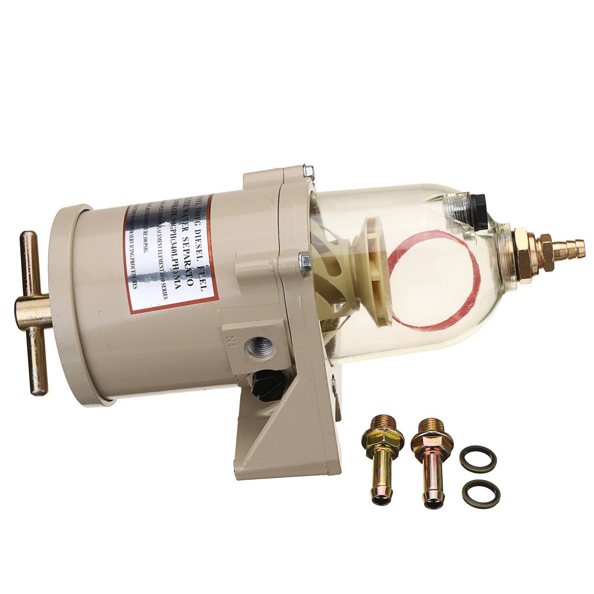 500FG 500FH Fuel Filter Oil/Water Separator Boat Trucks 90GPH - Power Tools Other Power Tools - 1 x Grease Gun, 1 x 10½ inch Hose, 1 x 6½ inch Rigid Connector
