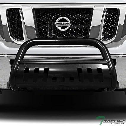 Topline Autopart Black HD Heavyduty Bull Bar Brush Push Front Bumper Grill  Grille Guard w/ Skin Plate For 12-16 Nissan NV1500 NV2500 NV3500