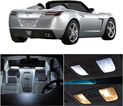 cciyu Replacement fit for Saturn Sky 2007-2009 Package Kit Blue LED Interior Light Accessories Replacement Parts 7 Pack