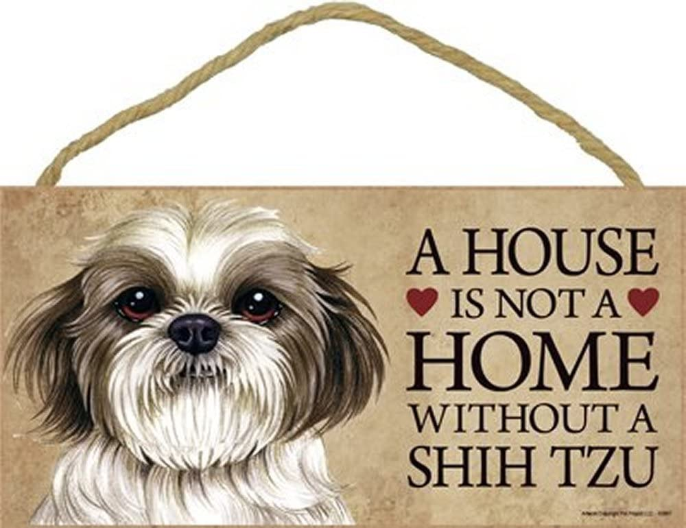 Shih Tzu Indoor Dog Breed Sign Plaque A House Is Not A Home Bonus Coaster