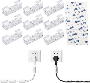 NATUCE 32PCS 10mm Organizador de Cables con Adhesivo, Abrazadera ...