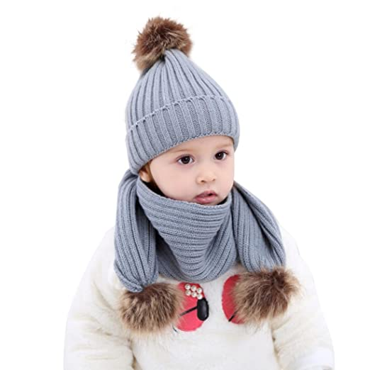 54d547b90ec2 Amazon.com  Baby Winter Hats Scarves Set