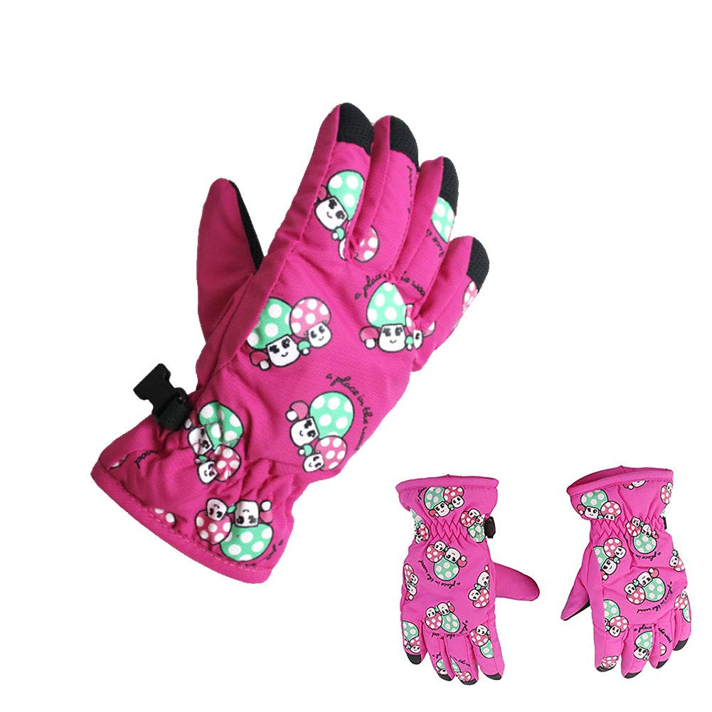 Childrens Ski Gloves Waterproof Warm Kids Winter Gloves Windproof Snowproof Outdoor Sports Gloves for Children Ski /& Snowboard 1 Pair