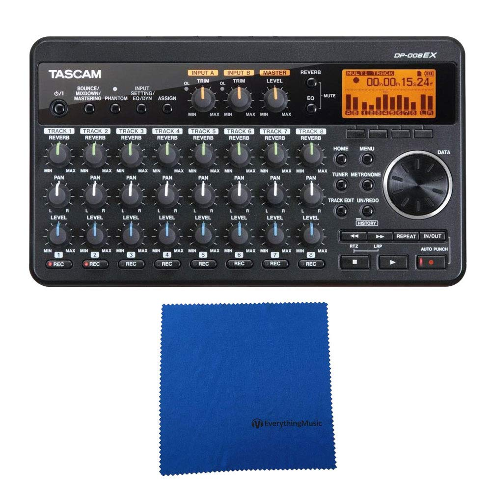 Tascam DP-008EX 8-track Digital Studio and SD Recorder with Microfiber