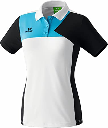 Erima Womens Polo Shirt XS/S White/Black/Blue