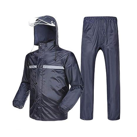 impermeable Chaqueta impermeable dividida en la parte superior + Pantalones  impermeables Pantalones impermeables para montar en f3e234beb157