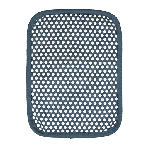 Silicone Dot (RITZ Royale Reversible Non-Slip Grip Silicone Dot Cotton Twill Pot Holder, Federal Blue)