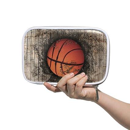 LUPINZ - Bolsa de cosméticos con diseño de balón de baloncesto ...