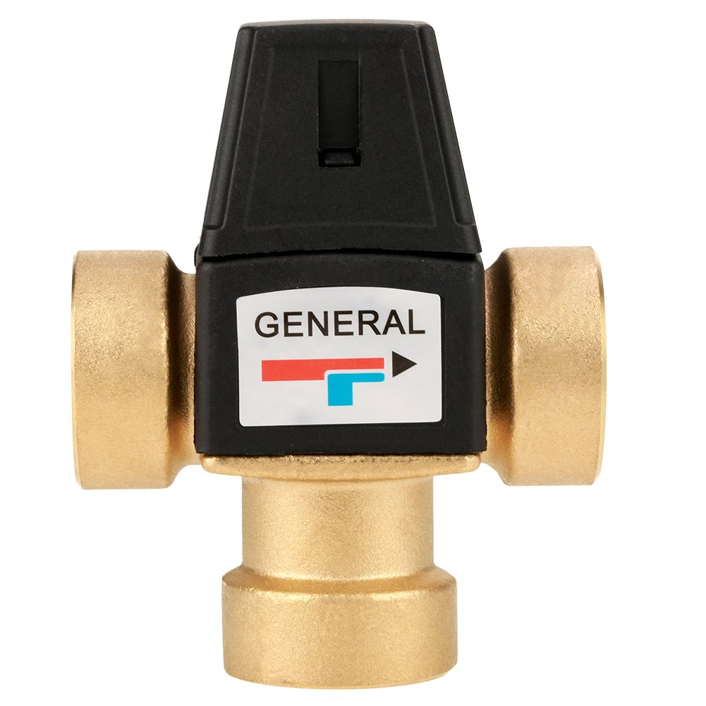 3 Way DN25 Brass Thermostatic Hot and Cold Mixing Valve for Shower System Water Temperature Control