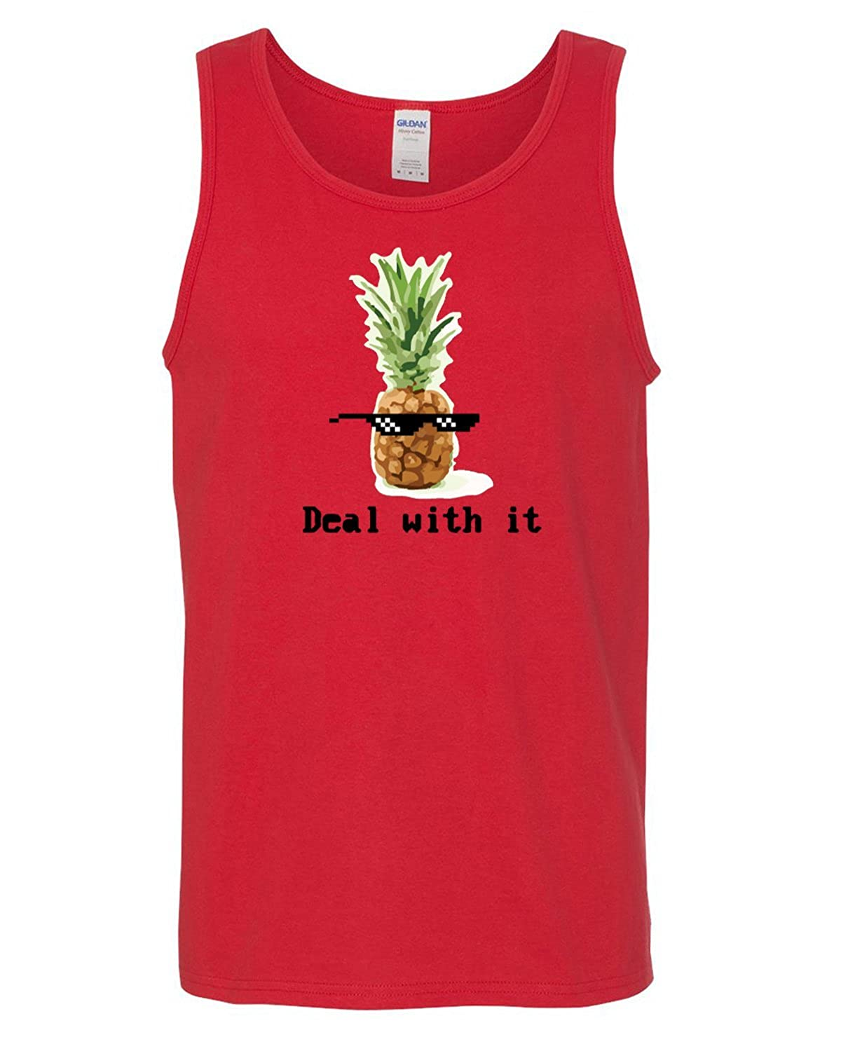 Deal With It Pineapple Heavy Cotton Tank Top