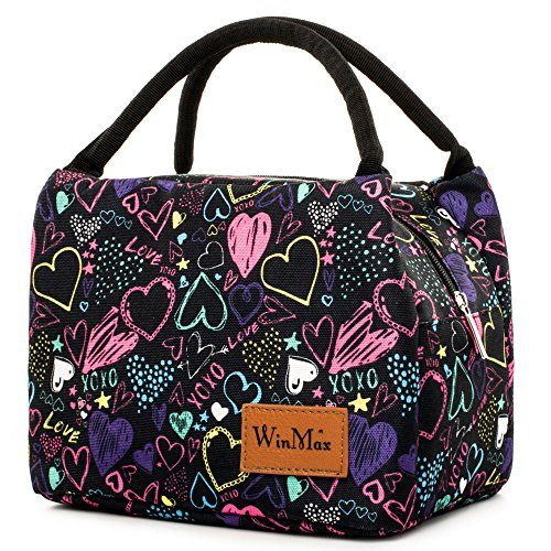 - Lunch Bag Cute Lunch Box for Women Insulated Lunch Tote Bag Travel/Work/To-Go Food Containers Waterproof and No Leak