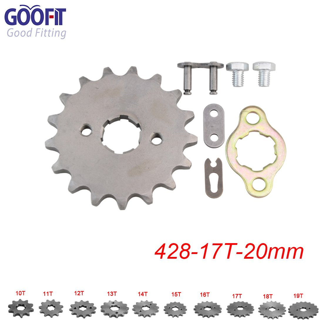 GOOFIT 428 14 20mm Tooth Front Engine motorcycle Sprocket Chain Retainer Plate LockerEngine For 50cc 70cc 90cc 110cc Motorcycle Dirt Bike ATV Quad