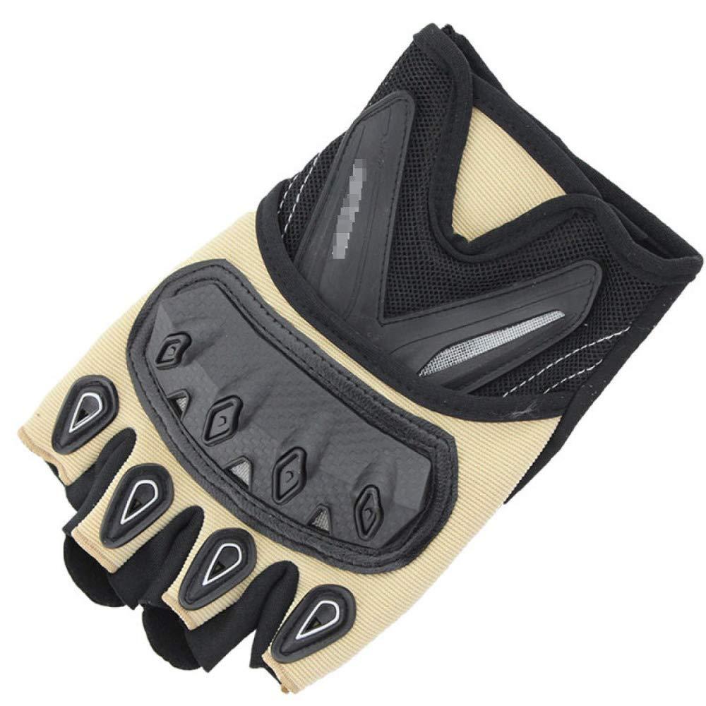 YIWANGO Halbfingerhandschuhe Für Herren Outdoor-Sportarten Bergsteigen Fitness Kampfsport Radfahren,2-XL