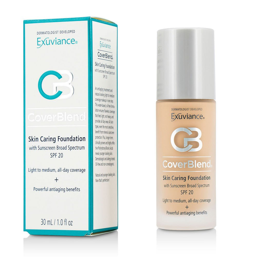 Exuviance by CoverBlend Skin Caring Foundation SPF20 - # True Beige --30ml/1oz for WOMEN ---(Package Of 6)