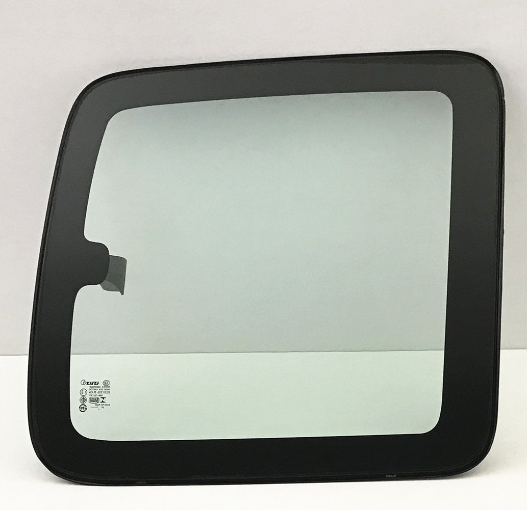 NAGD for 1999-2006 Chevrolet Silverado 2 Door Extended Pickup Passenger//Right Side Rear Movable Quarter Window Replacement Glass w//Latch