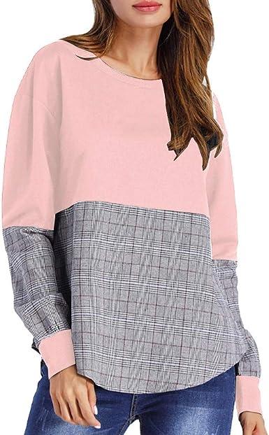 Camisas Mujer Blusas de Moda Otoño O Cuello de Las Mujeres de ...