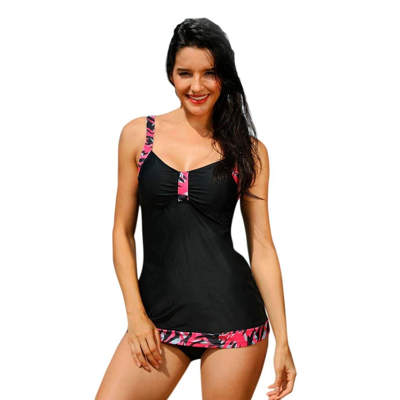 Sommer Damen Spitze Badeanzug Bikini Set Schnüren Schwimmanzug Bademode PD