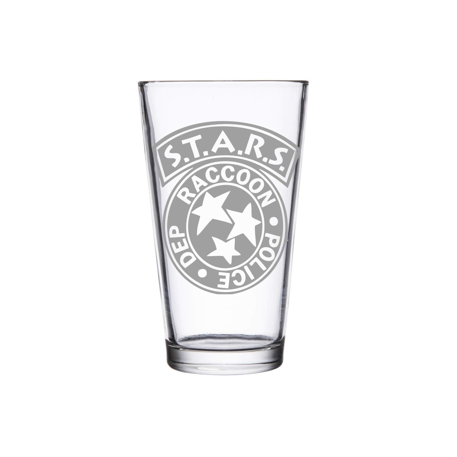 Handmade Glass Etched S.T.A.R.S Pint Glass