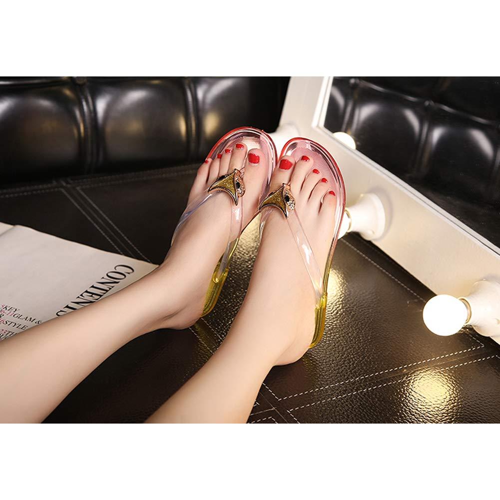Qimaoo Flip Flop Chanclas Zapatos de Playa y Piscina para Mujer