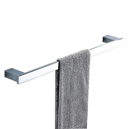 Toallero Espejo Cuadrado de Acero Inoxidable 304 con una Sola Varilla, Accesorio de baño ampliado