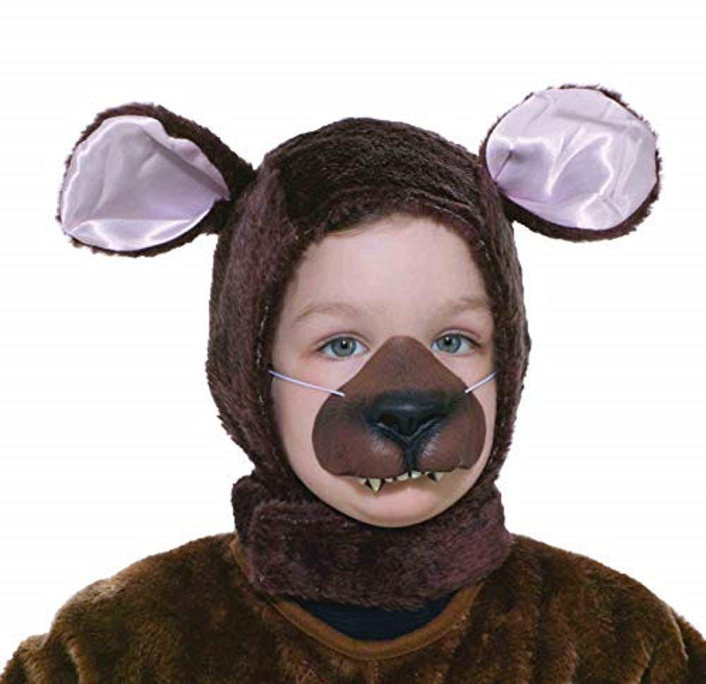 Forum Novelties Child Size Animal Costume Set, Brown Bear Hood and Nose Mask