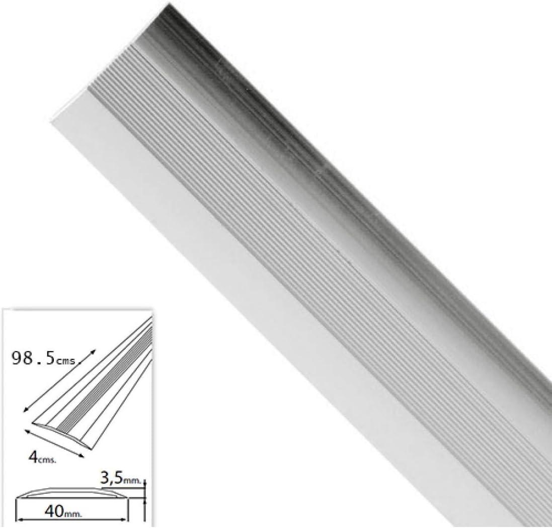WOLFPACK LINEA PROFESIONAL 2541110 Tapajuntas Adhesivo para Moquetas Metal Plata 98,5 cm