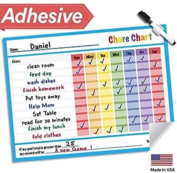 amazon com responsibility chore chart for kids 14 5 x 11 dry