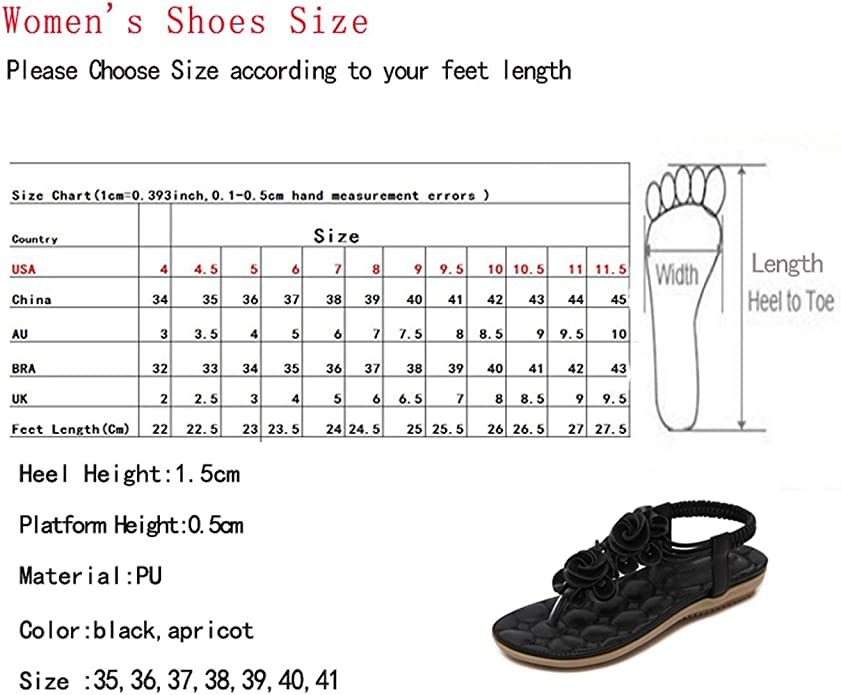 SHANGXIAN Beach Party Bohemia Sandals Women Summer Cool Comfort Travel Walking Flat Flip-Flops,Airport,36