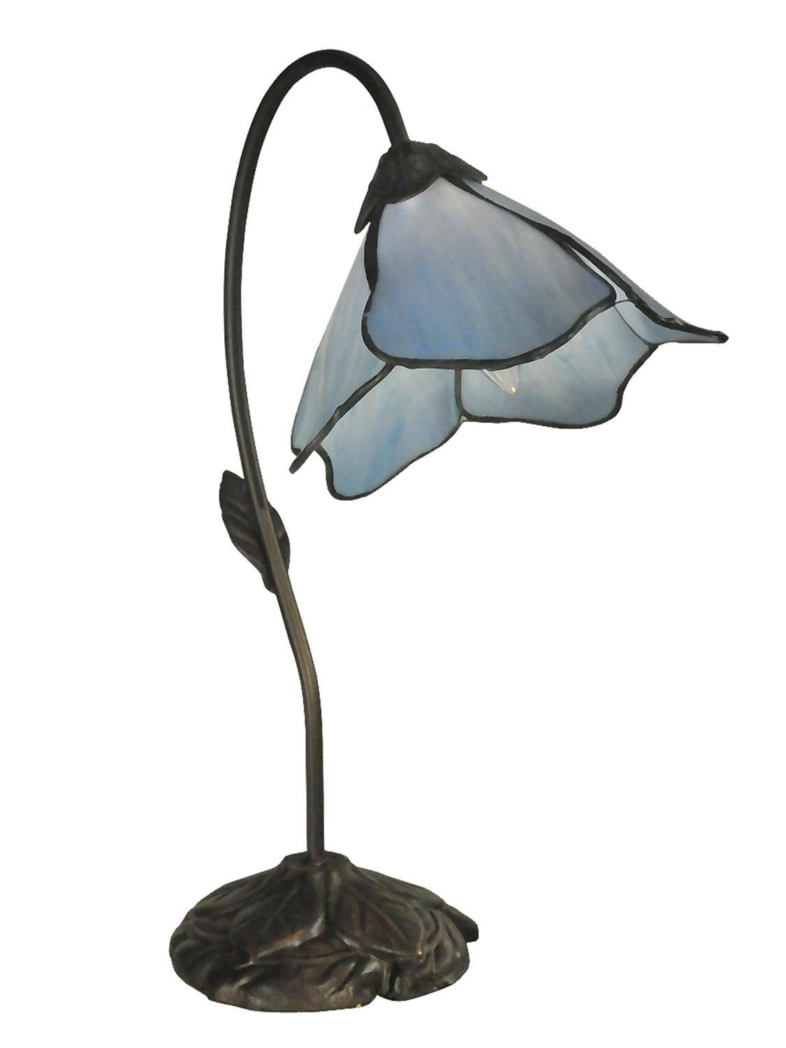 Dale tiffany tt12145 poelking 1 light blue lily table lamp dark dale tiffany tt12145 poelking 1 light blue lily table lamp dark antique bronze piano lamps amazon geotapseo Gallery