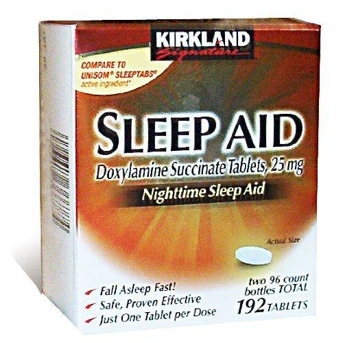 Kirkland Signature sommeil aide de succinate de doxylamine 25 Mg, 192-Comte