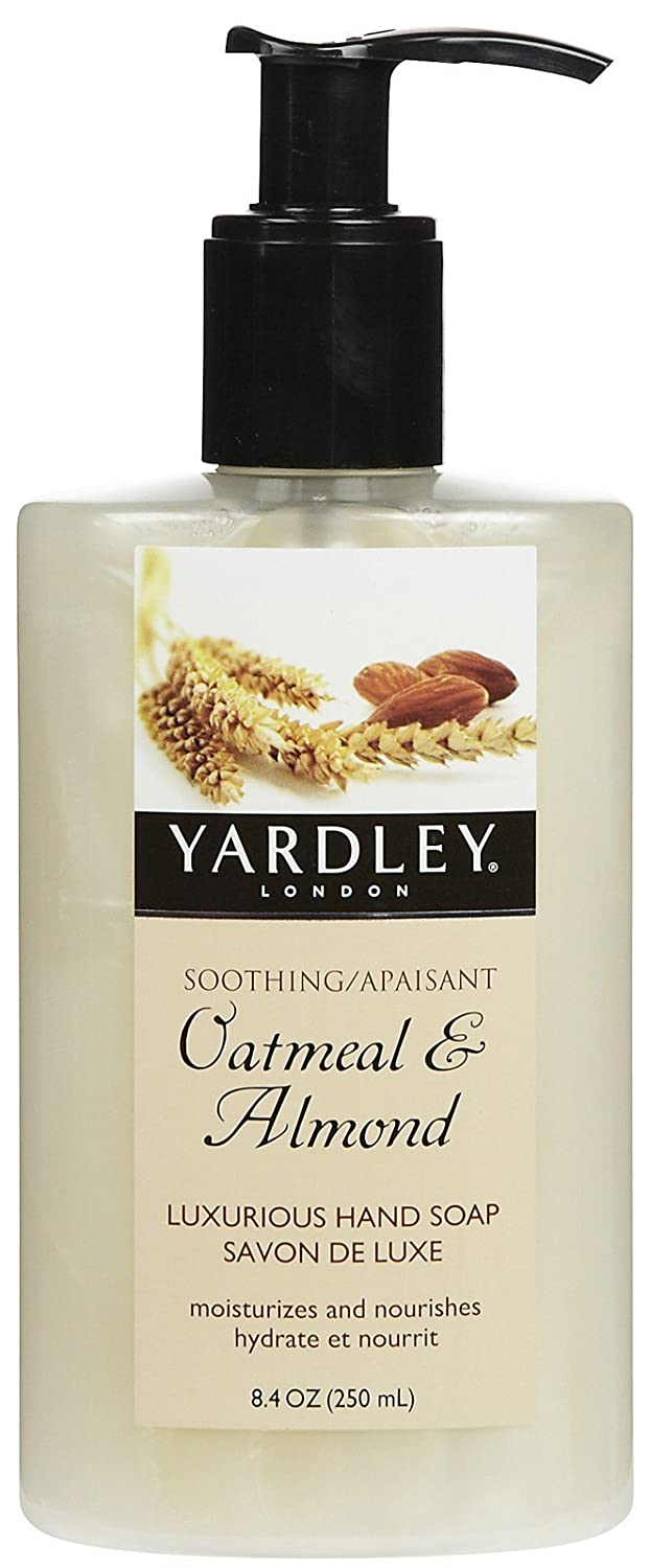 Yardley Hand Soap, Luxurious, Soothing Oatmeal & Almond, 8.4 Oz 041840829291