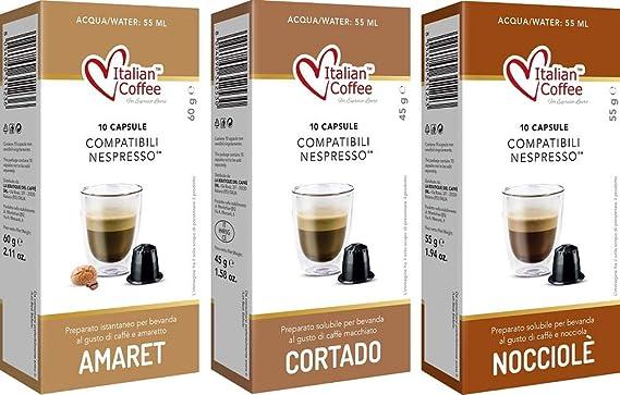 Capsulas Compatibles Nespresso Cafe con Leche Degustación 60 ud 3 Variedades