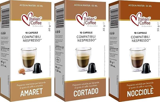 Capsulas Compatibles Nespresso Cafe con Leche Degustación 60 ud 3 ...