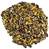 Hypnotic Gems Materials: 1 lb Tiger Eye Tumbled Stones from South Africa - 1/4'' to 1/2'' Average - Bulk Natural Polished Gemstone Supplies for Wicca, Reiki, and Energy Crystal Healing
