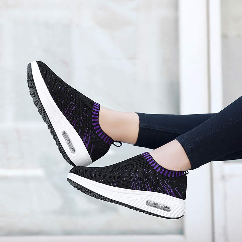 78e28950a22d Amazon.com   FORUU Women Outdoor Mesh Casual Sports Shoes Thick-Soled Air  Cushion Shoes Sneakers   Fashion Sneakers