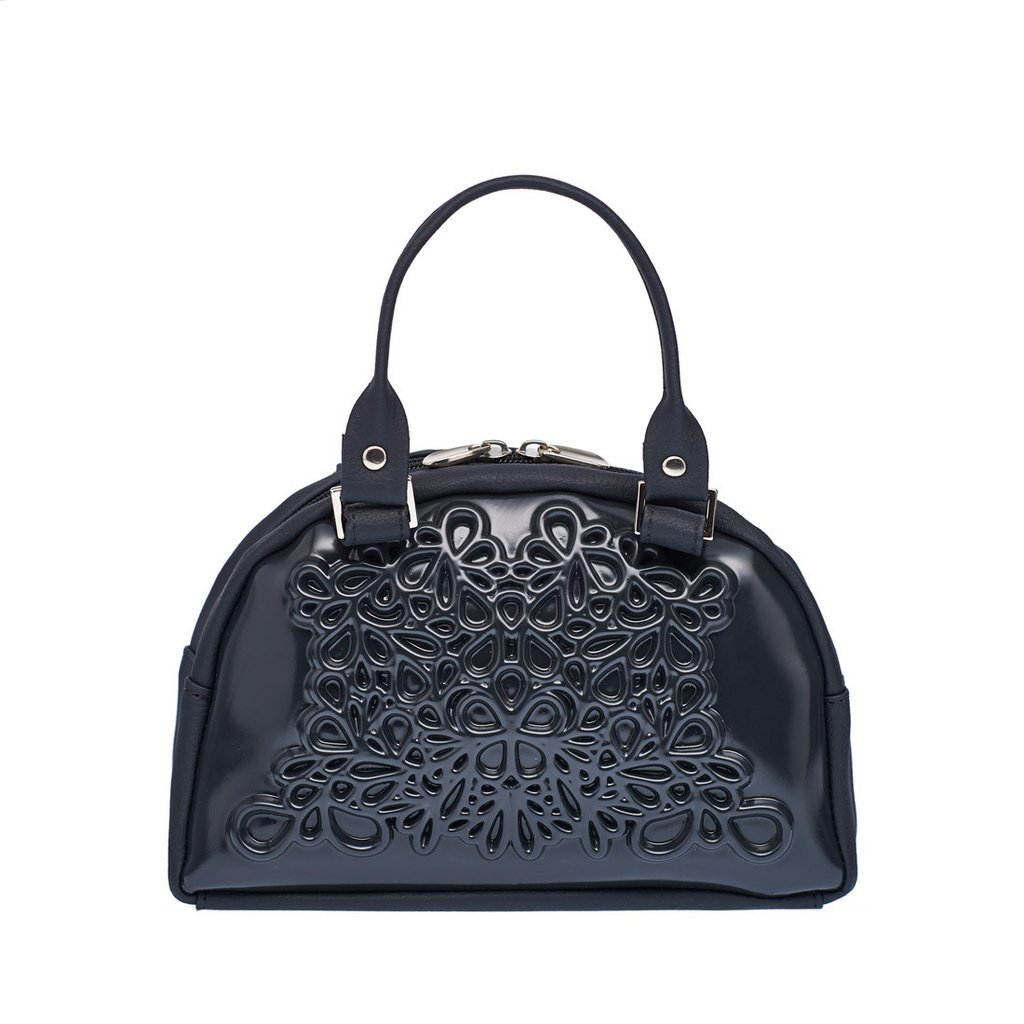 MeDusa Vegan Leather Handmade Lily Crossbody Bag (Black/Black) by MeDusa