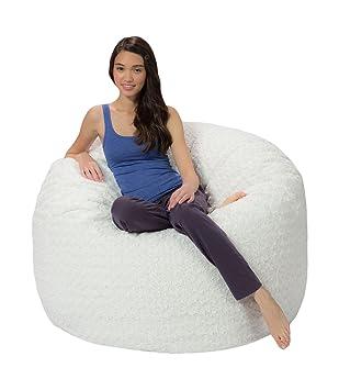 Comfy Sacks 4 Ft Memory Foam Bean Bag Chair Polar Fox