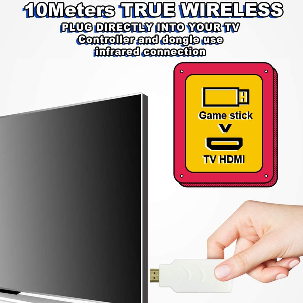 FR-POPPYZ 2 Spieler 1080P Wireless TV Video Spielekonsole mit 638 ...