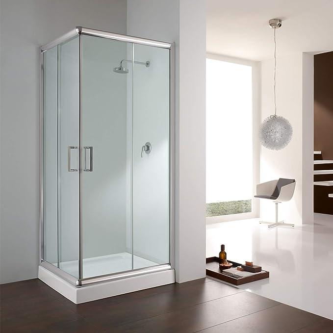 Cabina de ducha rectangular, 70 x 90 x 198 cm, transparente, 6 mm: Amazon.es: Bricolaje y herramientas