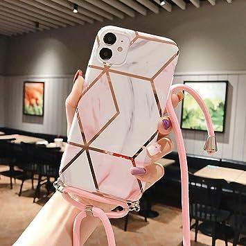 Emlivi - Funda para iPhone SE 2020, 7 y 8 (4,7 pulgadas) con cordón para colgar, funda de silicona con cinta.