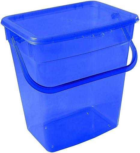 6L, Blau Plast Team Waschpulver Aufbewahrungsbox mit Deckel Futterbehalter Beh/älter