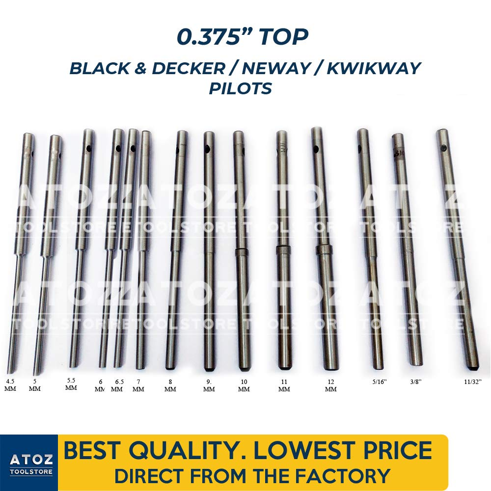 ATOZ.Toolstore 0.375'' Top Black & Decker/Neway/Kwikway Valve Seat Grinder Pilot Hardened Guides. Create New Sets (14x Set (4.5mm-11/32)) by ATOZ.Toolstore (Image #1)